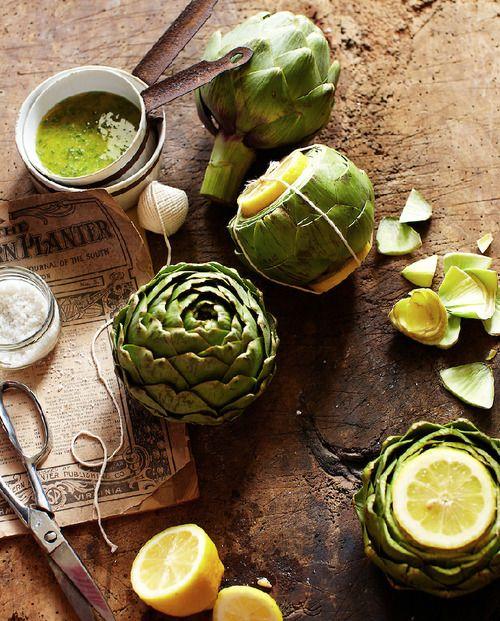 Artichokes & Lemon Vinaigrette