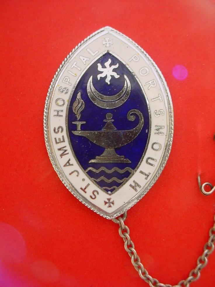 St James Hospital Portsmouth Nursing badge