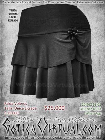 falda boleros negra gotica dark bogota ventas online bodega envios a todo el pais cali medellin cucuta cauca arauca cordoba colombia