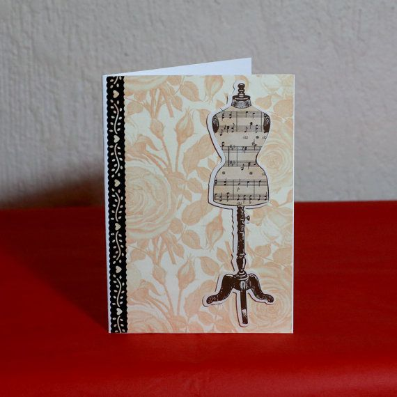 Dressmaker Greeting Card by HoneysDead on Etsy