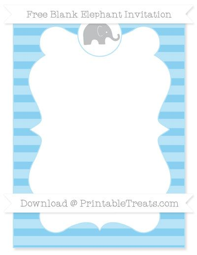 Free Baby Blue Horizontal Striped Blank Elephant ...
