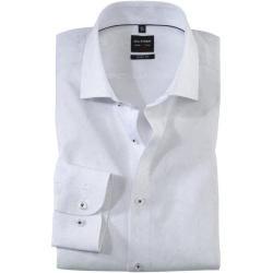 Olymp Level Five Hemd, body fit, Royal Kent, Weiß, 37 Olymp
