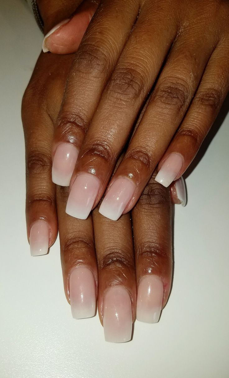 short french ombre nails flirtatious