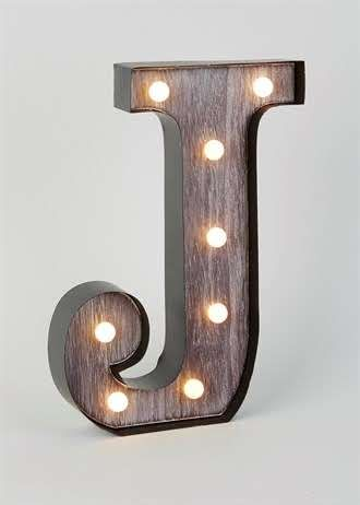 Led j letter light 34cm x 24cm matalan