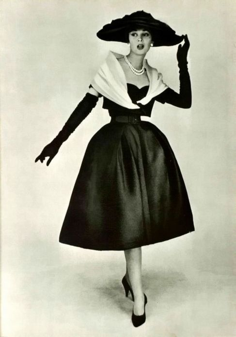 Christian Dior, 1956.  I call this my birthday look...its the world I was born into.