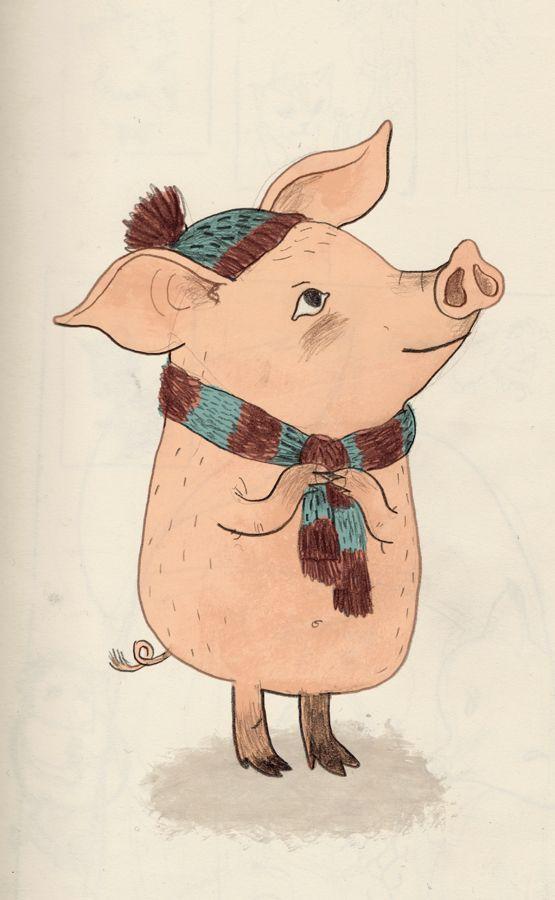День, рисунки прикольных свинок