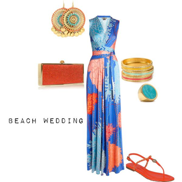 beach_wedding by jess-weiss on Polyvore featuring polyvore, fashion, style, Issa, Tory Burch, Carvela, Aqua, Michael Kors and clothing