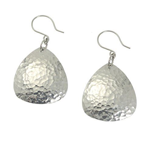 Hand Hammered Aluminum Drop Earrings