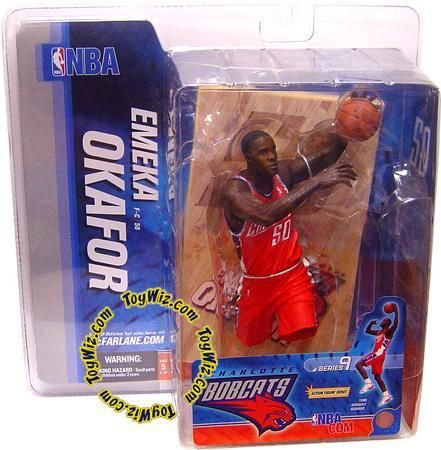 McFarlane Toys NBA Charlotte Bobcats Sports Picks Series 9 Emeka Okafor Action Figure [Orange Jersey]