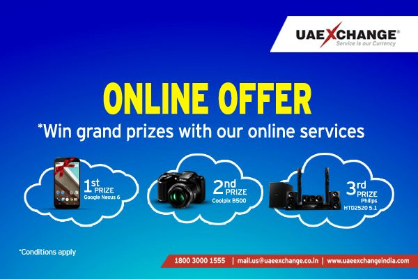 #UAEExchangeIndia Offers Grand Prizes for Online Transactions