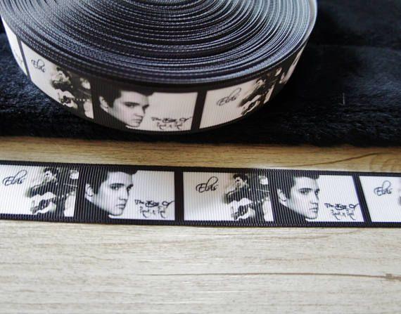 ELVIS ruban 25mm 1 pouce ruban ruban pour cheveux projet