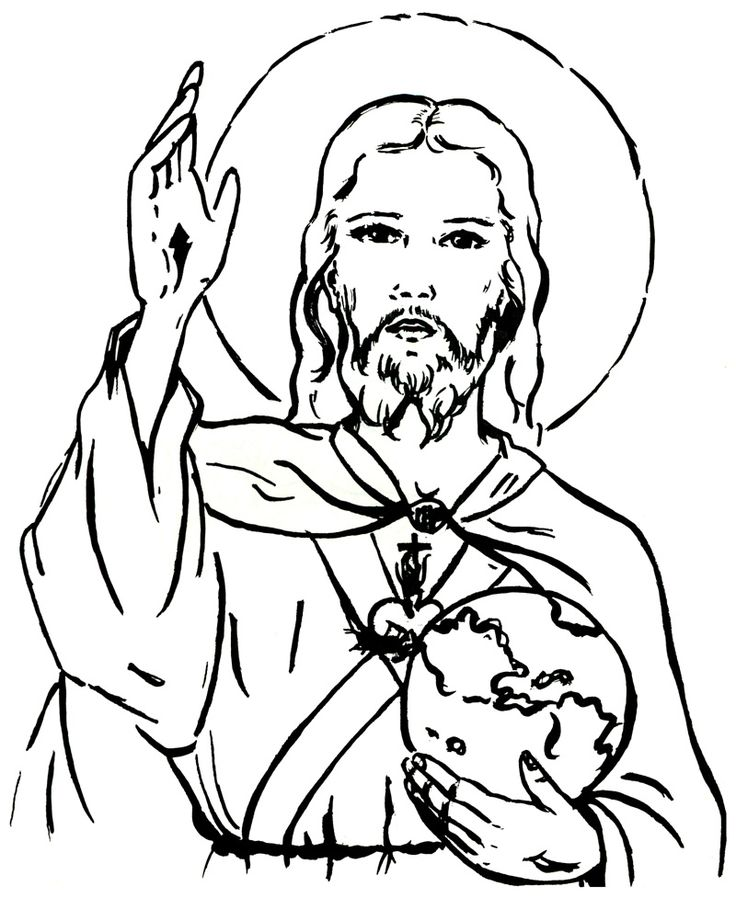 christ our king and savior catholic coloring page