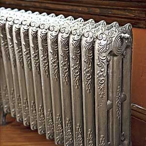 Painting radiators - old fashioned painted steam radiator