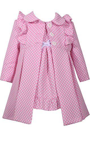 8762178eca5 Baby Girls Coat and Dress Set   Gardens   Dresses, Jacquard dress, Bonnie  jean