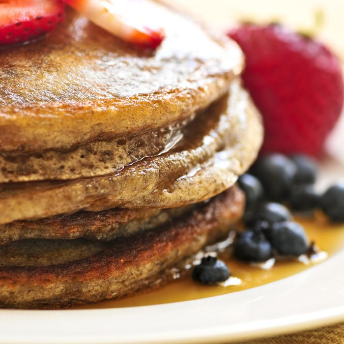 Your favorite breakfast, made healthier. #pancakes