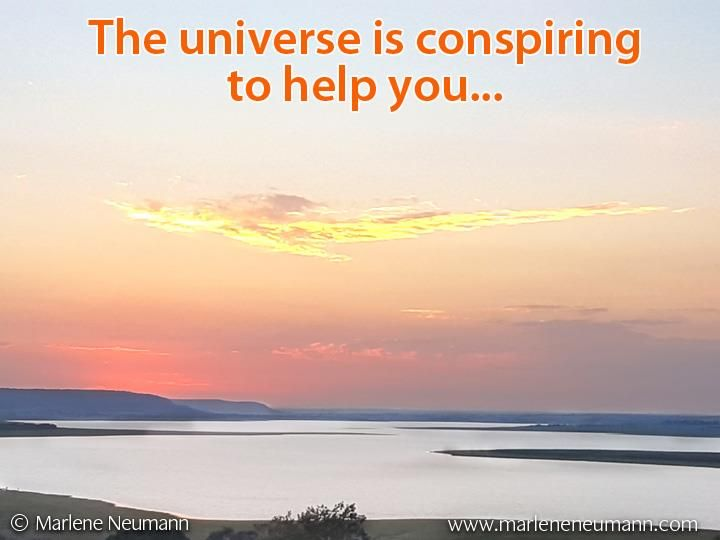 The universe is conspiring to help you... Inspirational quotes by Marlene Neumann. Photographer, teacher, author, philanthropist, philosopher. Marlene shares her own personal quotations from her insights, teachings and travels. Order your pack of Inspirational Cards! www.marleneneumann.com