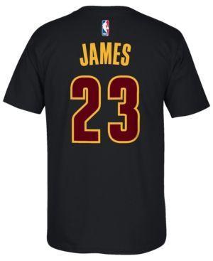 adidas Men's LeBron James Cleveland Cavaliers Player T-Shirt - Black XXL