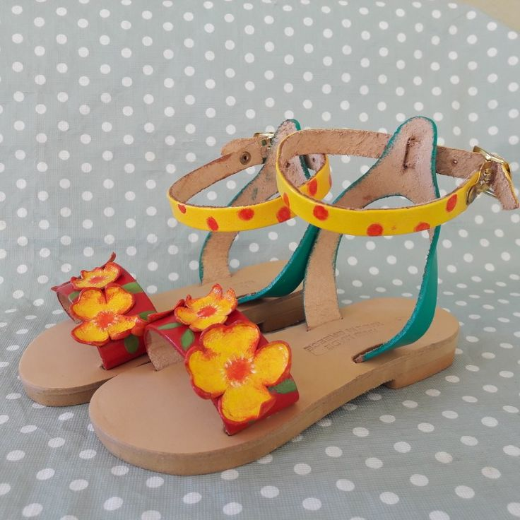Handmade leather sandals by Paint My Day by Niki!