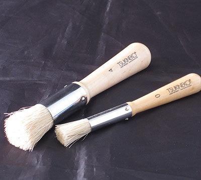 Tsukineko Stipple Brushes Sizes 0 4 Stencil Stippling Set of 2 Art Paint Ink | eBay