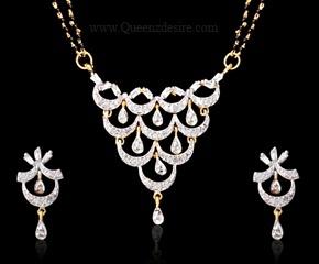 American Diamond Mangalsutra  [QDIAD026A]