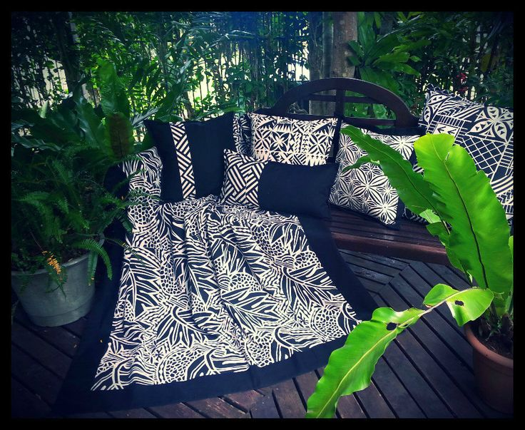 """More """"Black N' White"""" sampling...... Coordinating cushions with throw...."""