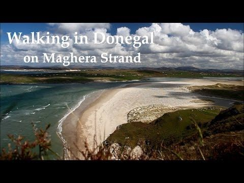 Walking in Donegal on Maghera Strand