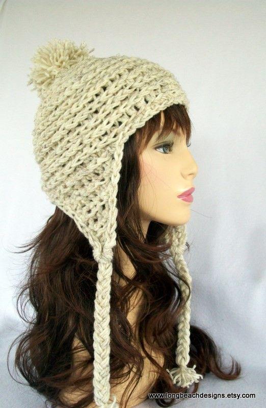 Crochet Hat Pattern, Ear Flap Hat Pattern, Breckenridge Earflap Hat