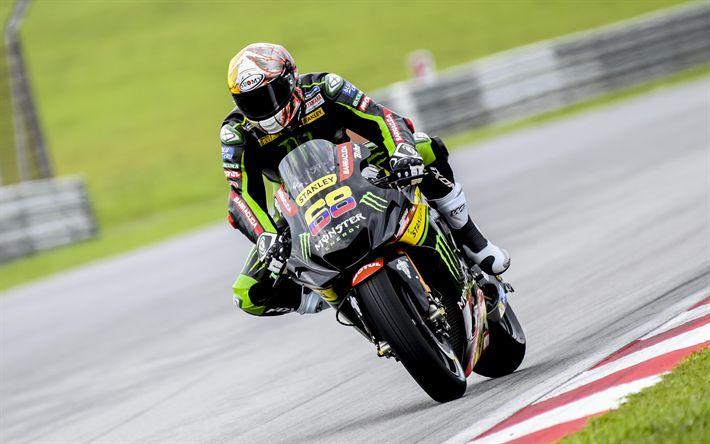 Download wallpapers 4k, Yonny Hernandez, sportsbikes, raceway, 2018 bikes, MotoGP, Yamaha YZF-R1, Team Pedercini