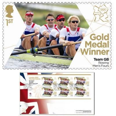 Large image of the Team GB Gold Medal Winner First Day Cover - Alex Gregory, Pete Reed, Tom James, Andrew Triggs Hodge