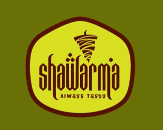 Chicken Roll Logo design..... Shawarma always tasty