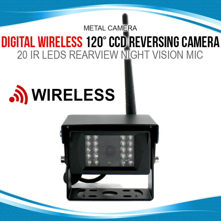 Digital Wireless 120° CCD Reversing Camera 20 IR LEDS Rearview Night Vision Mic