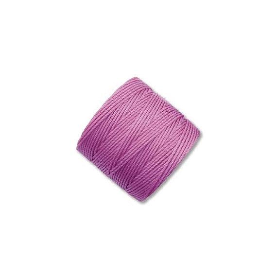 S-lon Superlon beading cord macrame 77yds 0.5mm crochet pink light orchid