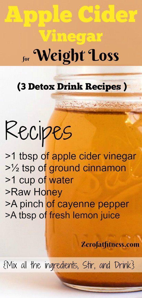 Apple Cider Vinegar for Weight Loss – 3 Detox Drink Recipe …