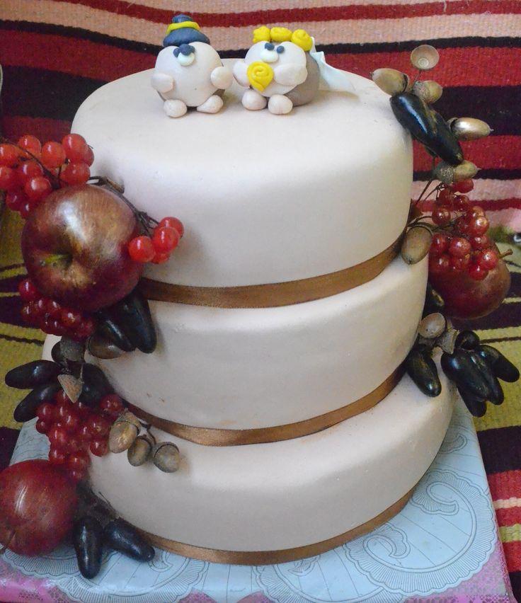 #свадебный торт #осенний торт #торт в витебске #торт с ягодами