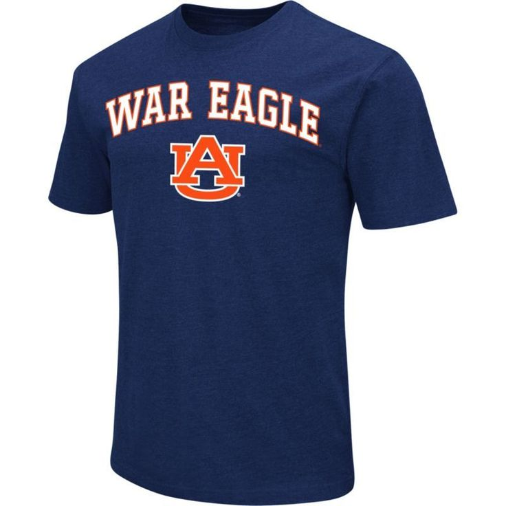 Colosseum Athletics Men's Auburn Tigers Blue Team Slogan T-Shirt, Size: Large