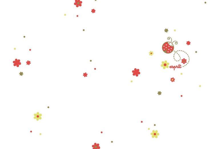 2192-20 Dětská vliesová tapeta na zeď s beruškami Esprit Kids 3, velikost 10,05 m x 53 cm