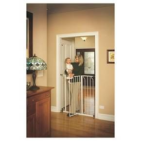 """An essential tool for homes with young children, the Regalo Easy Step Extra Tall Baby Gate is a safe and convenient way to contain and protect both your child and home. <br>Boasting an all-steel construction, with durability and strength in mind, this attractive safety gate is adjustable to accommodate door openings between 29-39"""" and if you have a little climber, the gate is a mighty 41"""" tall. <br>To make gate installation a breeze, pressure mount the gate with the incl..."""