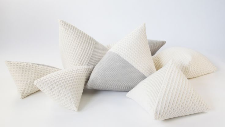 Stereo cushions with 3D textiles designed by Studio Samira Boon