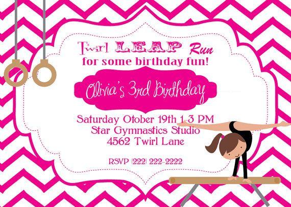 26 best Gymnastics party images on Pinterest Gymnastics birthday - best of invitation wording for gymnastics party