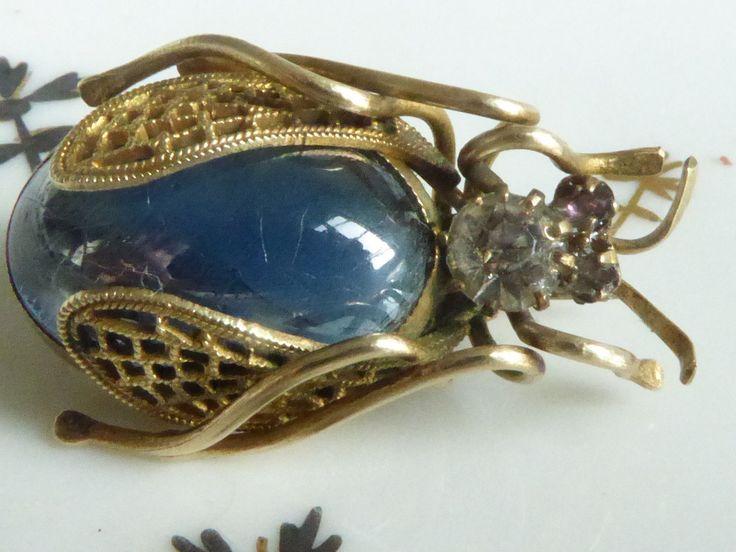 Belle Broche Ancienne figurant un Insecte en plaqué or et pierres strass | Bijoux, montres, Joaillerie, Broches, pin's | eBay!