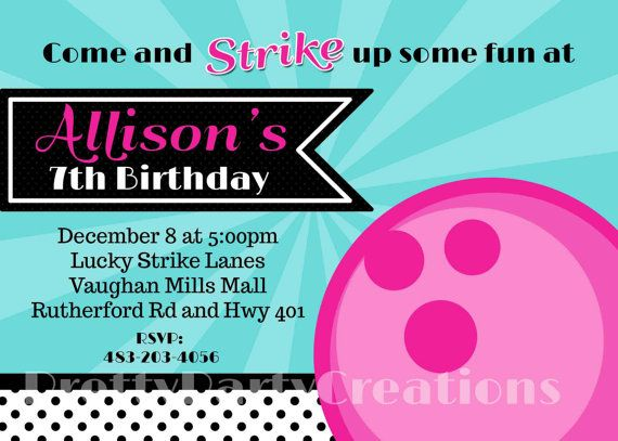 31 best Bowling Invitation images on Pinterest Birthdays - bowling invitation