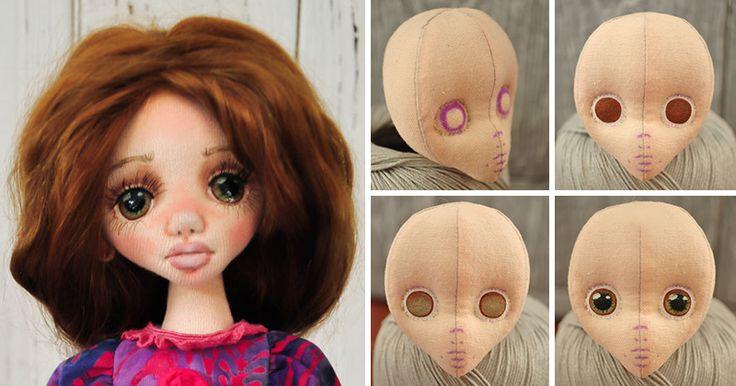 В данном мастер-классе я хочу показать вам этапы рисования кукольных глазок. Около года назад я увлеклась созданием текстильных кукол и знаю насколько ценна любая информация для начинающих. Итак, поехали! 1. Шьем голову из 4 частей. Я использую качественный американский хлопок, он очень удобен в работе, можно использовать любой, на ваш вкус. В интернете достаточно много выкроек, найдите подходящую и экспериментируйте.…
