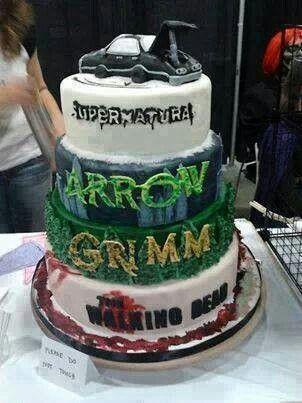 Mine would be Teen Wolf, Breaking Bad, Grimm, & The Walking Dead cake