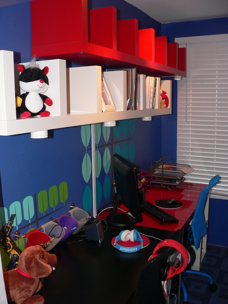 Revamped kids' playroom into their study room.
