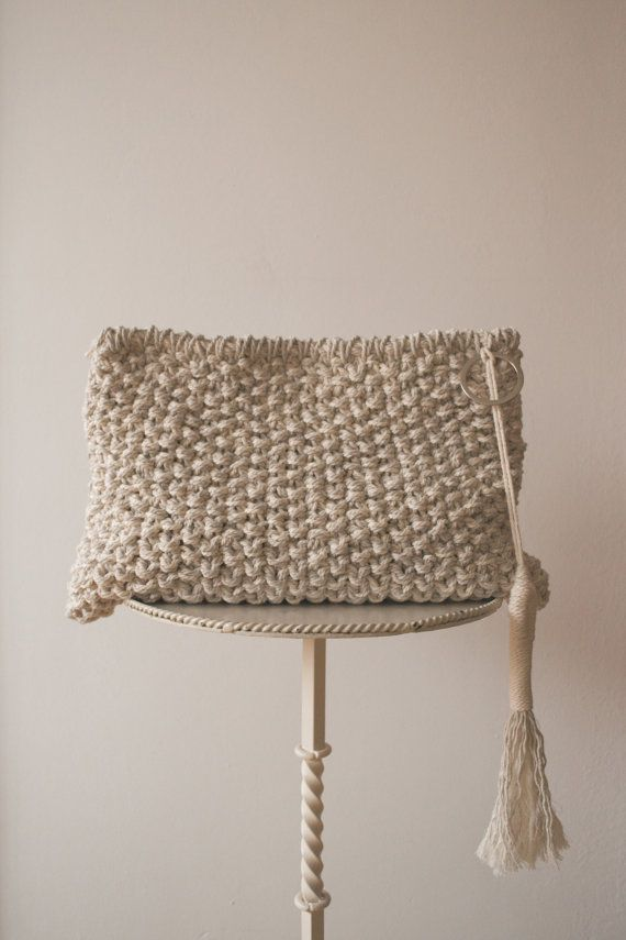 CLUTCH TEXTURE  White & Natural by EMAPROJECT on Etsy