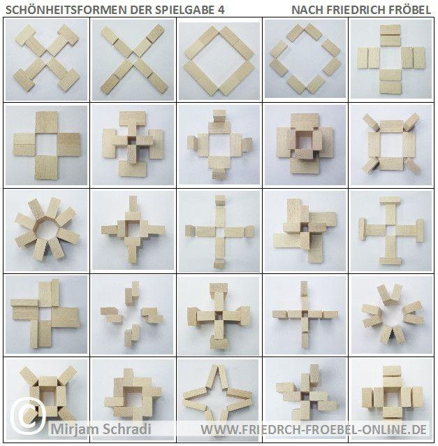25 Forms of Beauty with Spielgabe 4  Schönheitsformen mit Holzbausteinen der Spielgabe 4