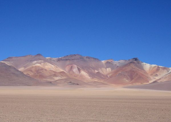 What's commonly referred to an the Salvador Dali Desert in Bolivia.