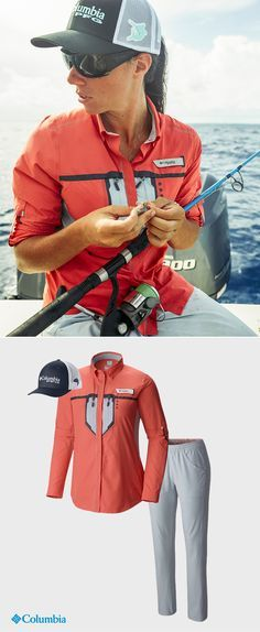 Columbia PFG shirts, pants and caps have been tested tough in the Pacific Northwest against every sun-frying, wind-gusting, wave-crashing condition a day on the boat will undoubtedly cast your way.