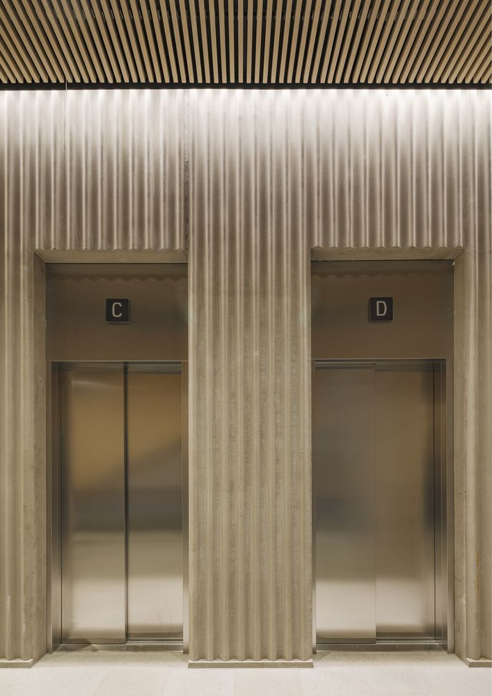 Gallery Of Stenhoga Office Building Tham Videgard 12 In 2020 Office Building Elevator Design Brick Architecture