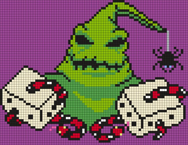 """Oogie Boogie """"Snake Eyes"""" From The Nightmare Before Christmas by Maninthebook on Kandi Patterns"""